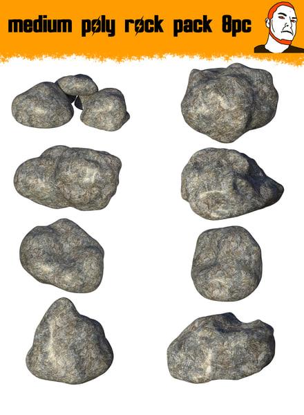 3D medium rocks