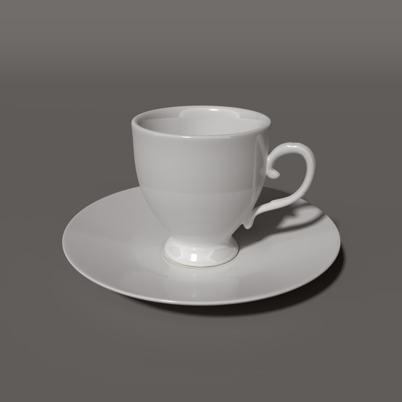porcelain tea 3D model