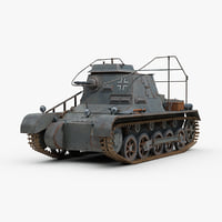 3D ww2 german sdkfz 265 model
