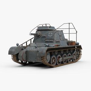 3D ww2 german sdkfz 265 model