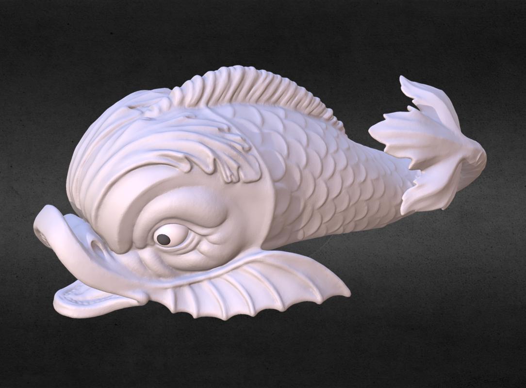 dolphin fish 3D model