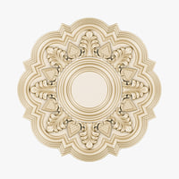 3D decorative rosette