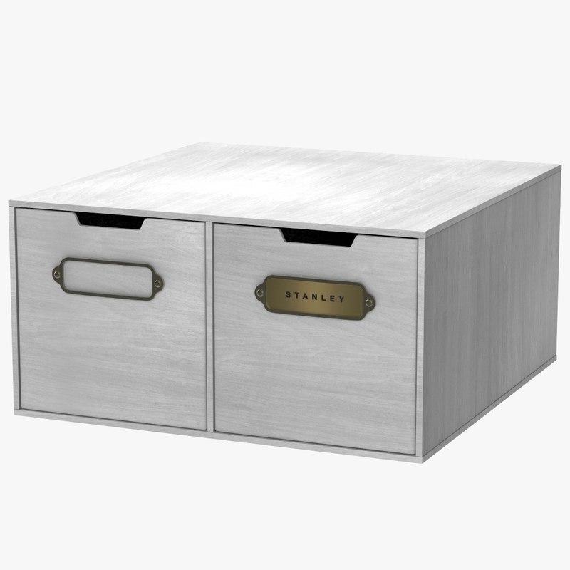 3D unit case storage documents model