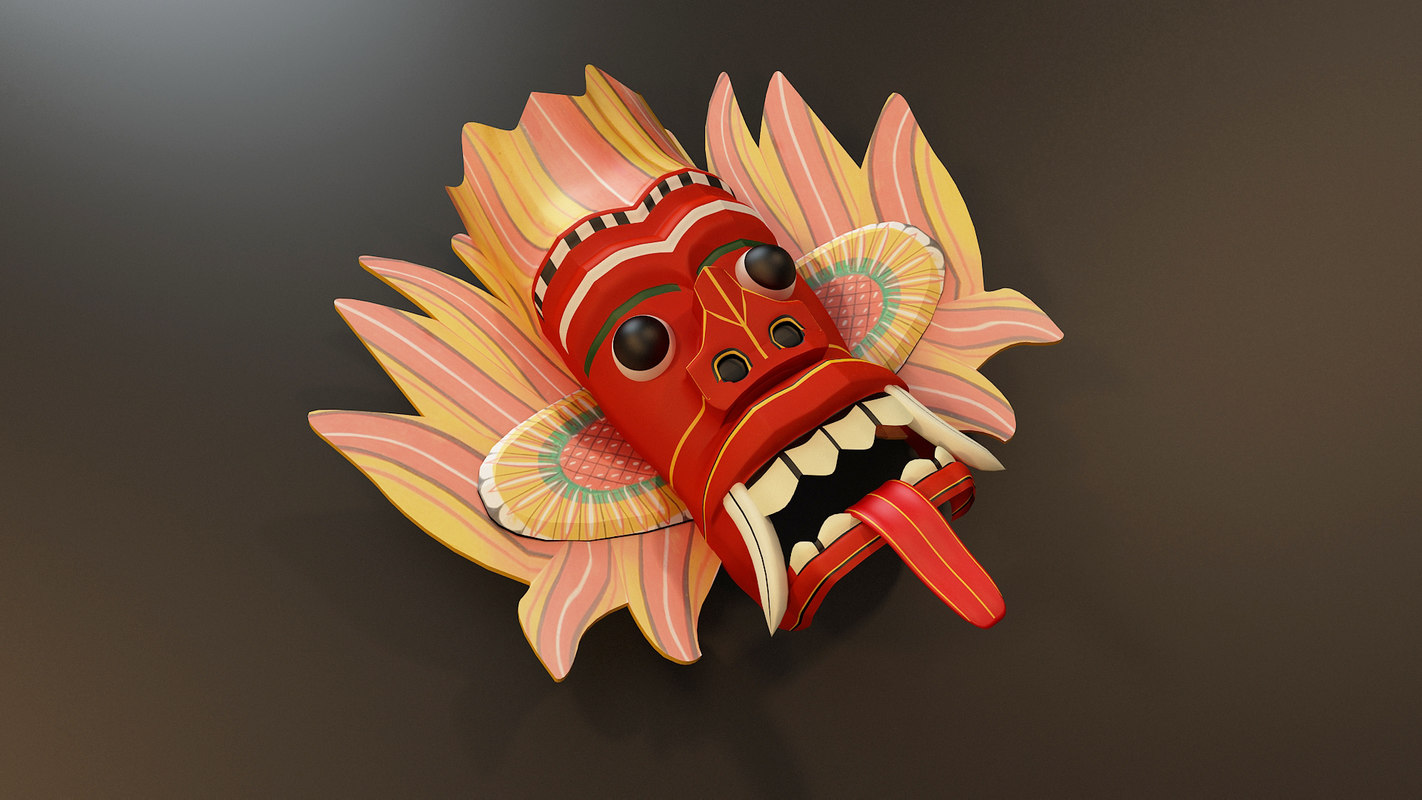 sri lankan traditional devil 3D model