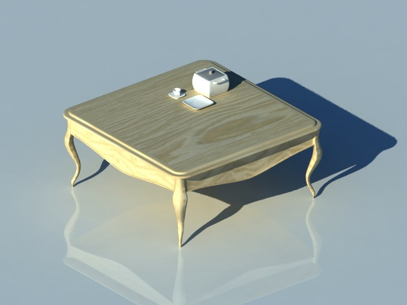 classic coffee table 3D