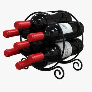 circular wine rack 3D model