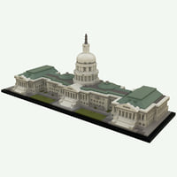 lego united states capitol building model