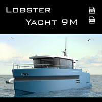 lobster yacht 3D model