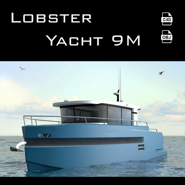 lobster yacht 3D model