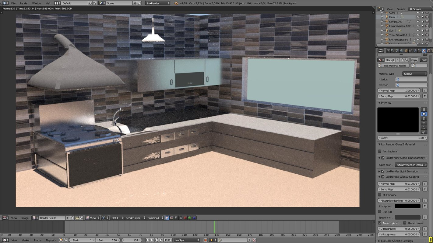 3D model items kitchen