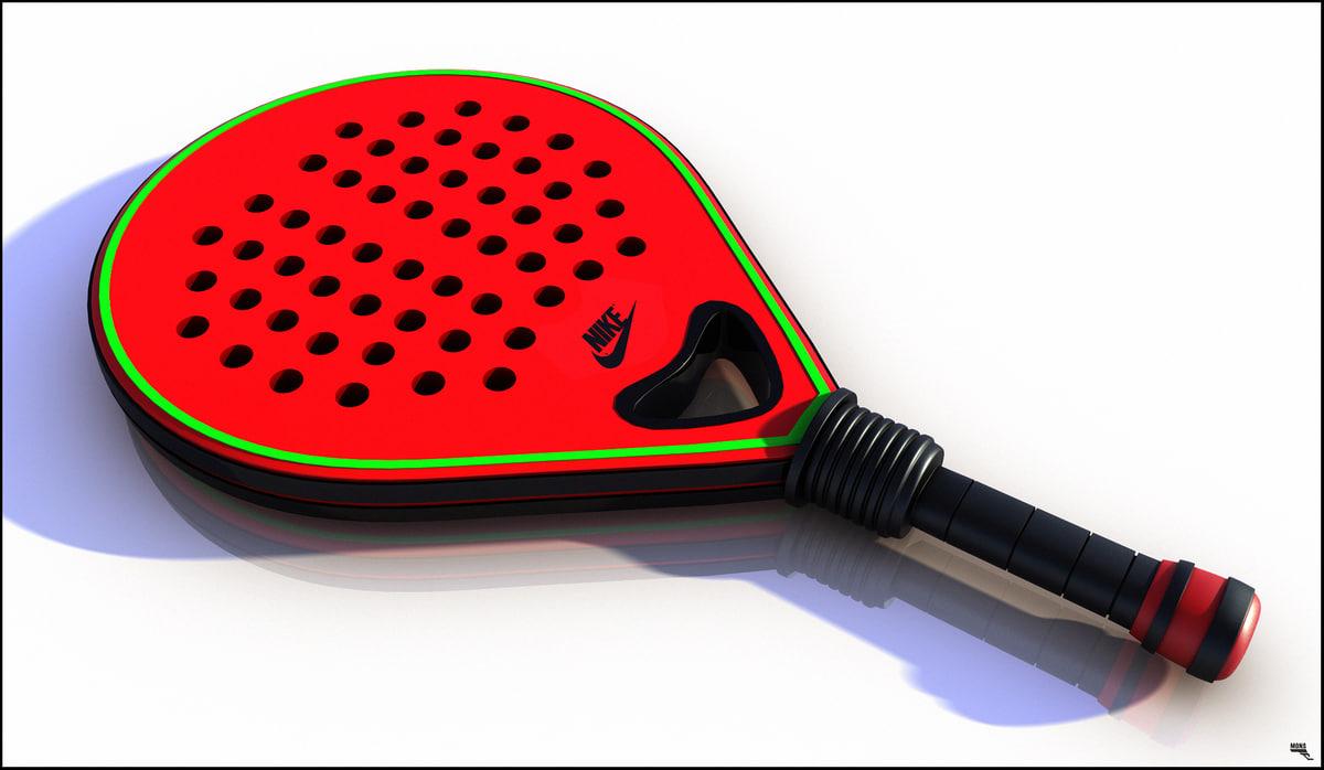 p paddle racket 3D model