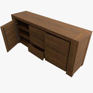 3D teak wooden dressoir
