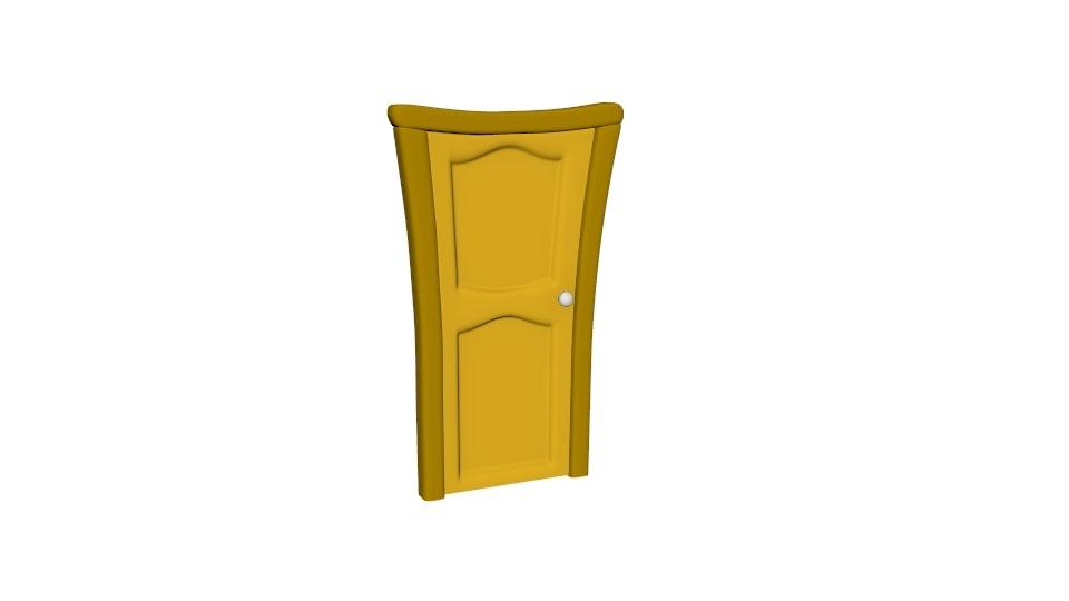 3D cartoon door