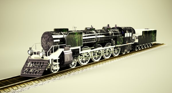 mountain steam locomotive 3D model