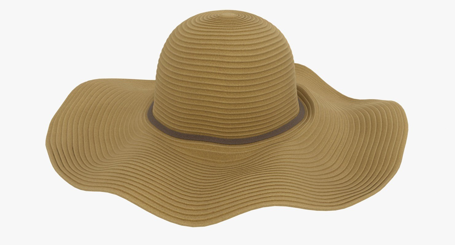 floppy hat brown 3D model