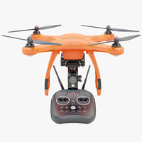 Animated Drone Autel Robotics and Controller 3D model