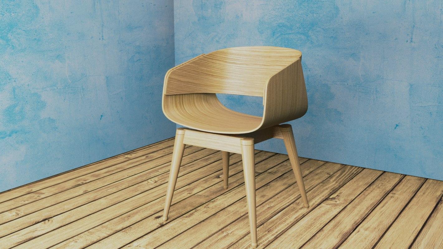 3D 4th armchair model
