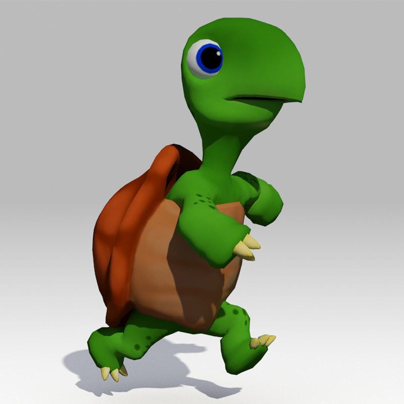 turtle toon animations model