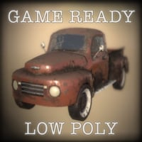 Game Ready Old Pickup Truck Low-Poly