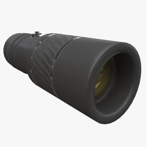 low-poly monocular 3D model