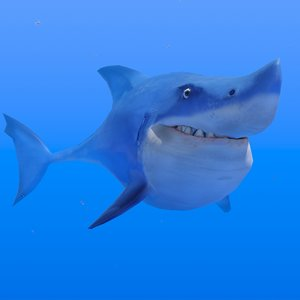 shark animations 3D model