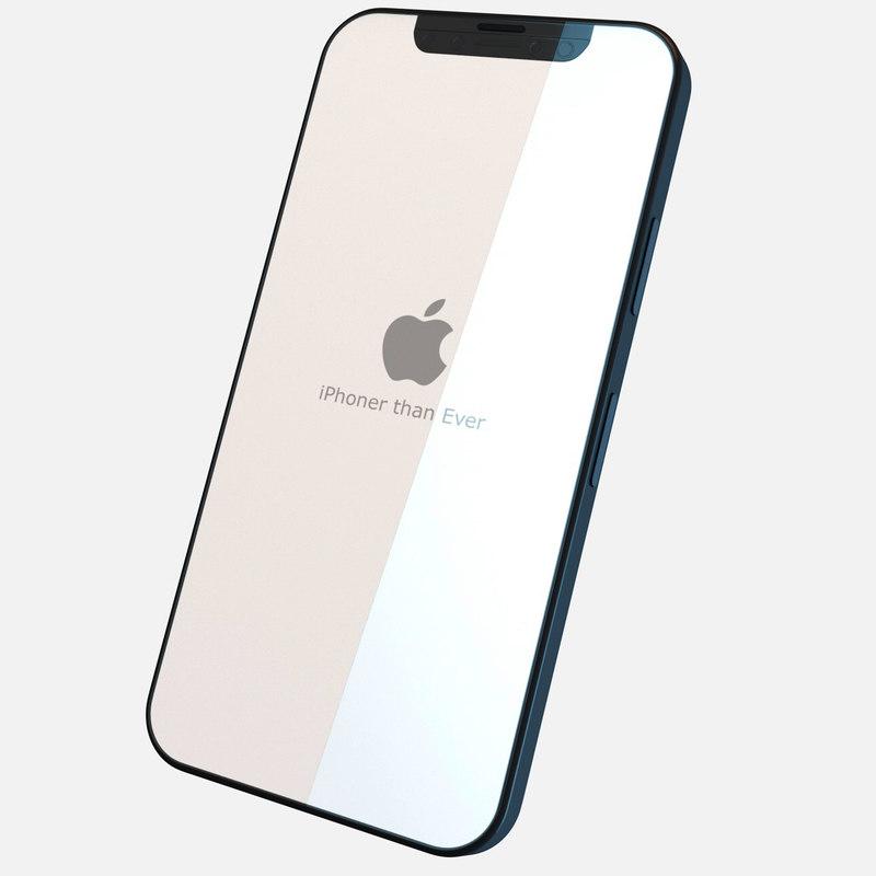 concept iphone 8 phone 3D