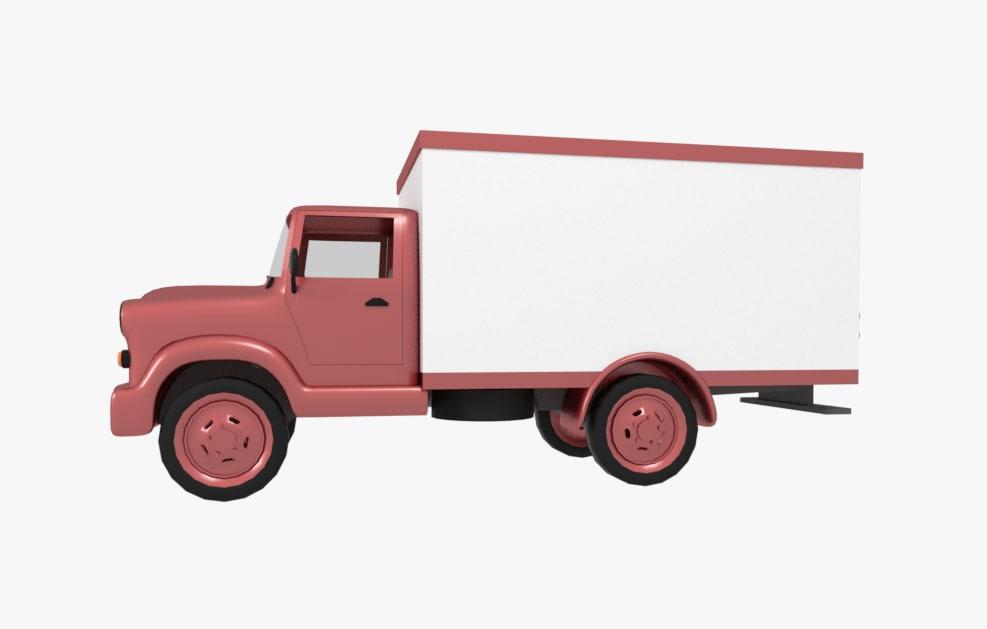 original old truck 3D model