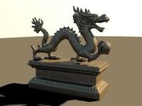 3D dragon china model