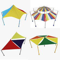 playground tents 3D model
