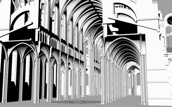 3D chartres cathedral model