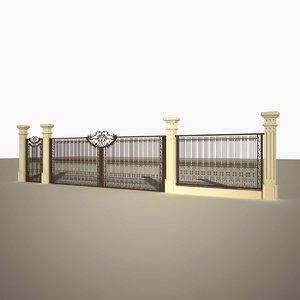 metallic cast gate 3D model