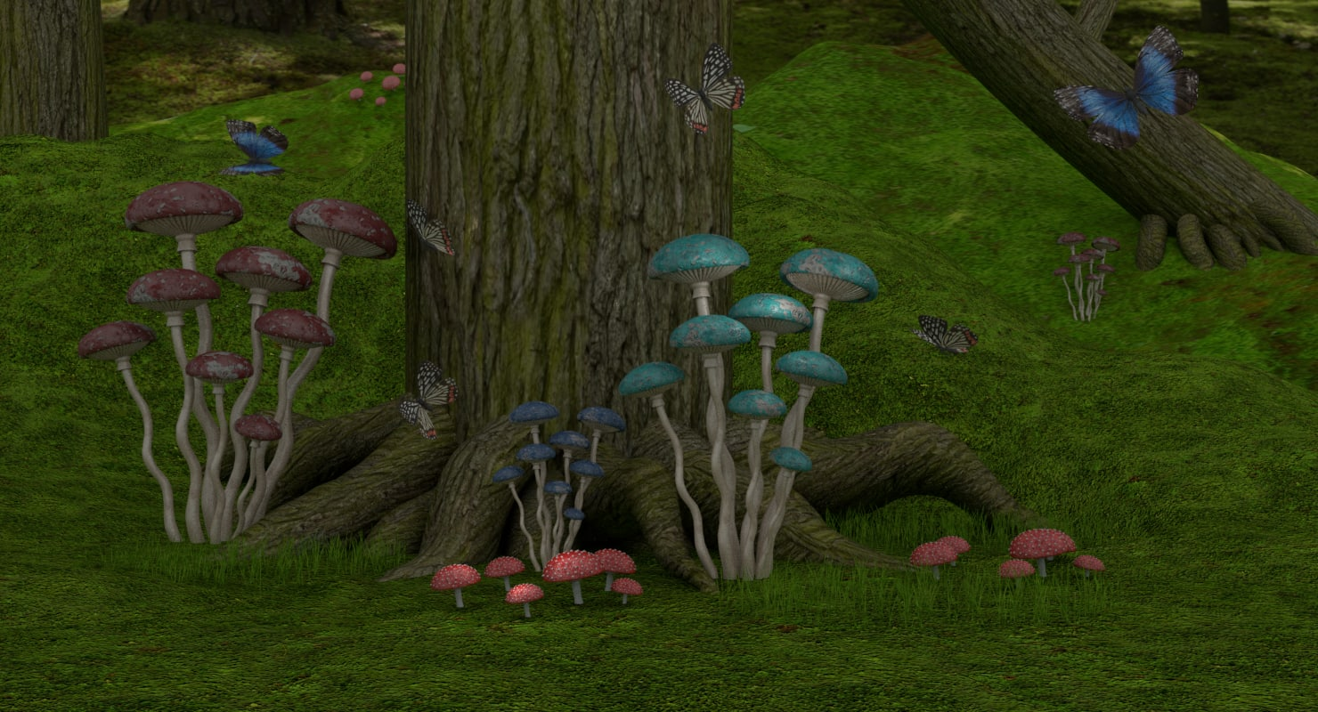 3D fantasy forest