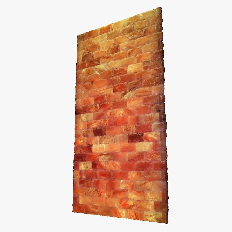 wall himalayan salt 3D model