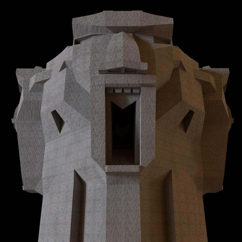 scream tower 3D model