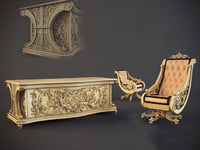 classic furniture 3D model