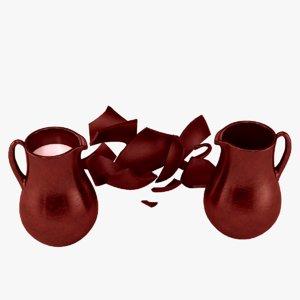 ceramic jug milk model