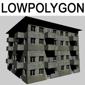 3D model house gameready
