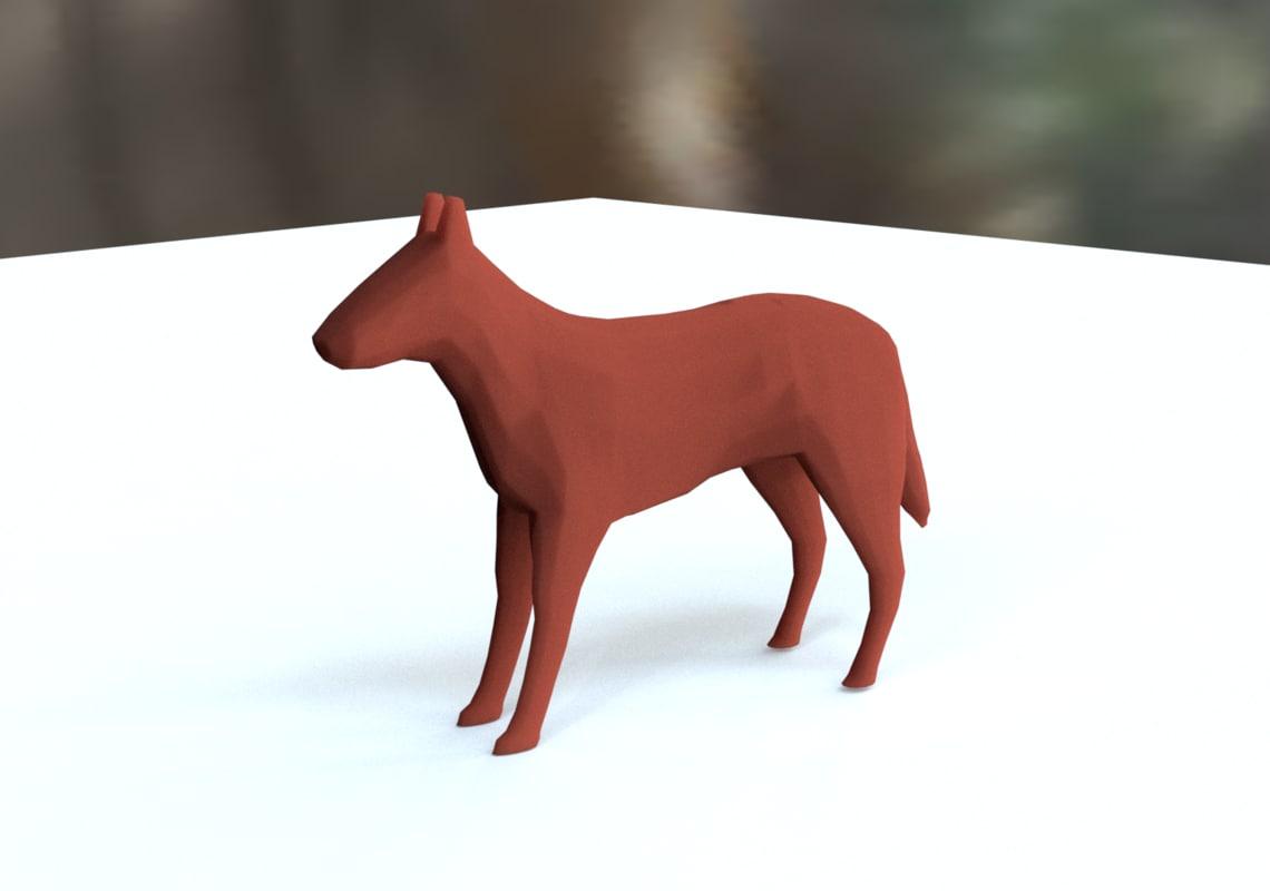 terracotta dog figurine 3D model