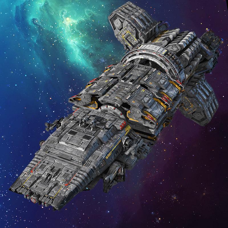 3D modular spaceship - TurboSquid 1178058