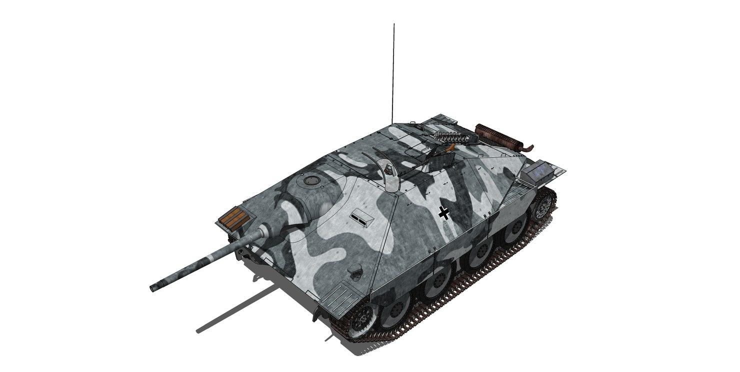 3D model german jagdpanzer 38 hetzer