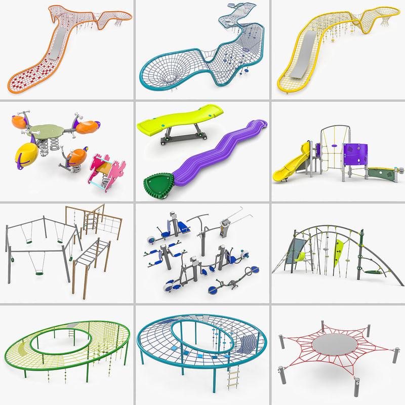kompan playgrounds - 24 3D model