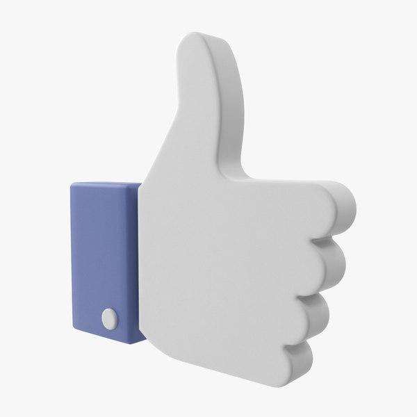 3D facebook sign model