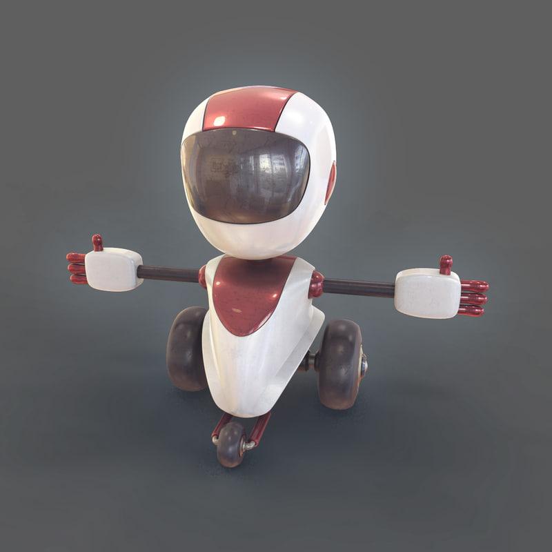 robot cartoon model