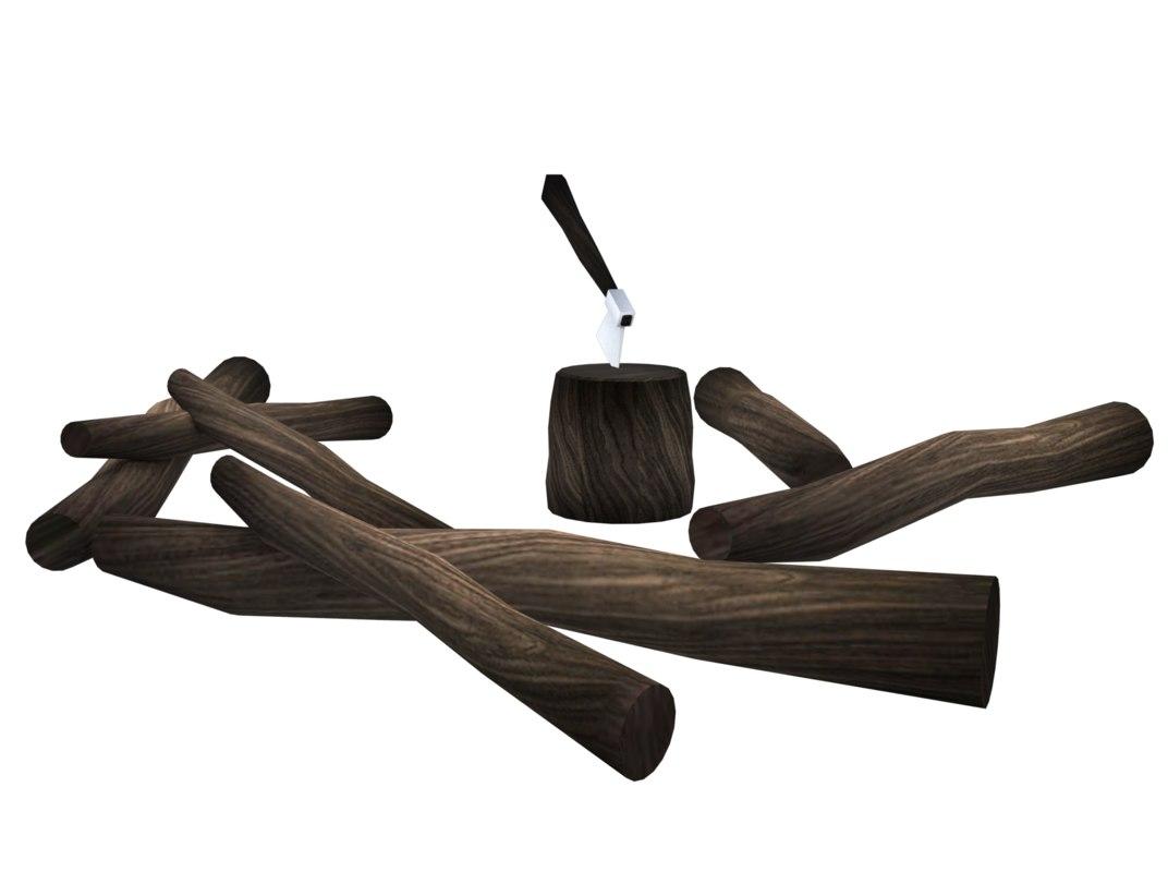 3D woods ax