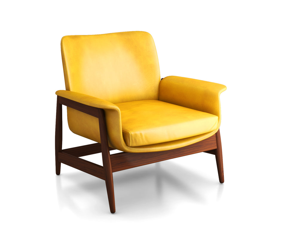 1960s bright chair 3D