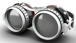 3D steampunk goggles corona