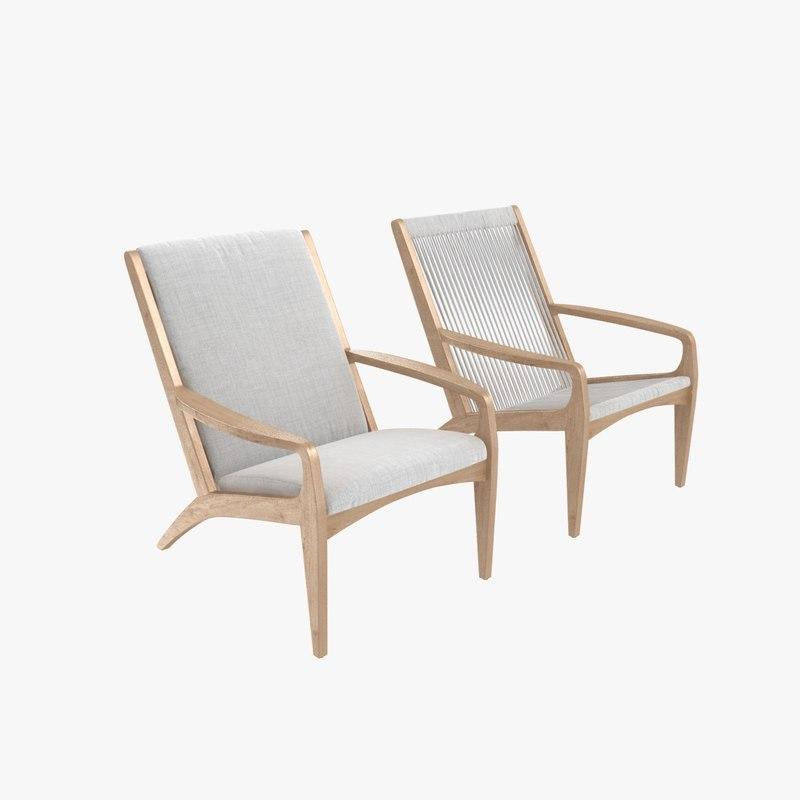 chair gisele lounge 3D model