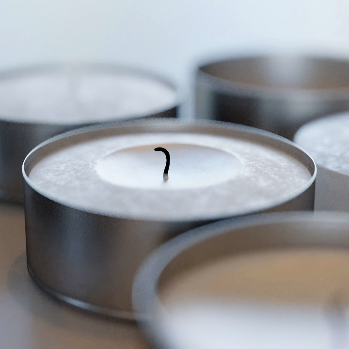 tealights - small candle 3D