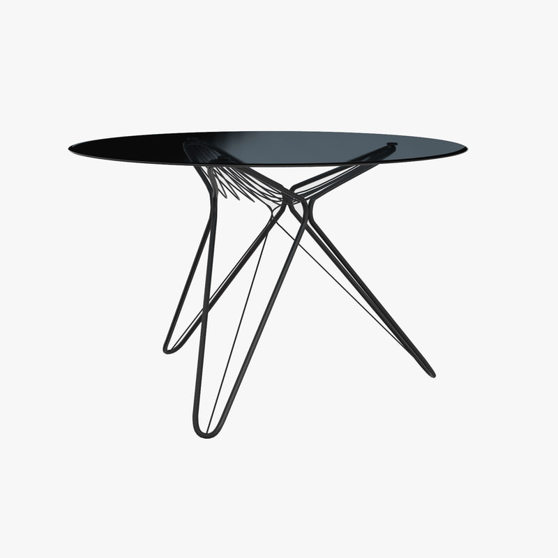 3D madame o dining table model