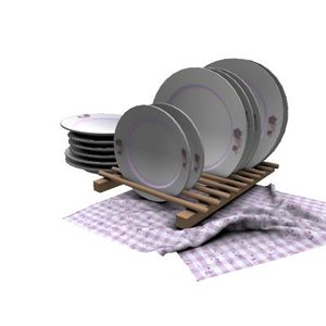 dishes drying rack 3D model